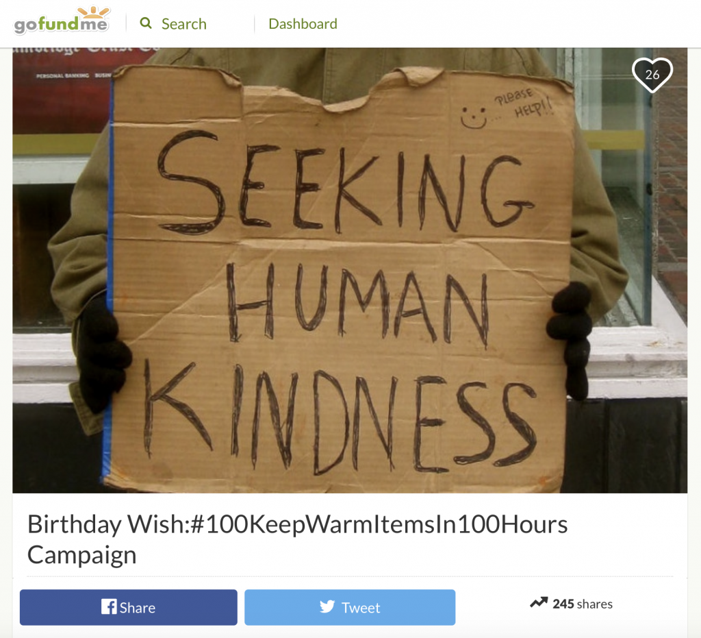 Seeking human kindness Seeking human kindness